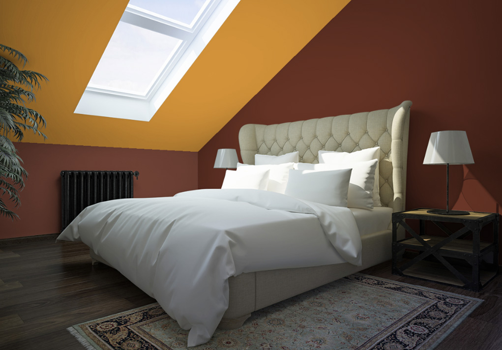 peinture marron murale d cohom. Black Bedroom Furniture Sets. Home Design Ideas