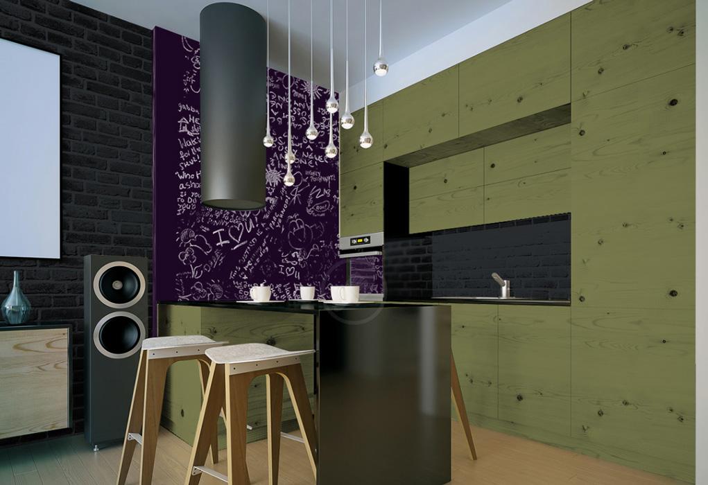 peinture gris anthracite murale d cohom. Black Bedroom Furniture Sets. Home Design Ideas