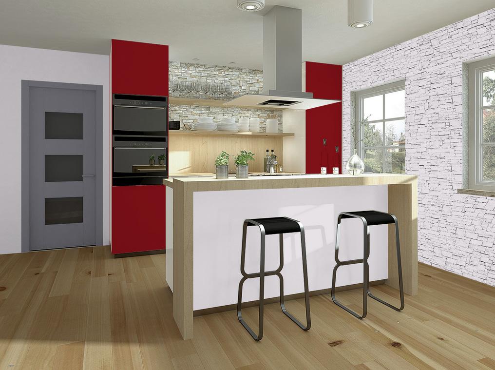 Peinture lin mur et plafond d cohom for Exemple peinture cuisine