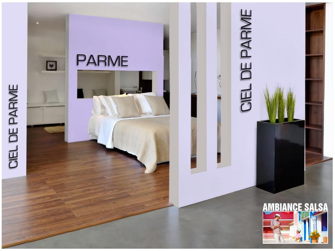 Exemple chambre couleur Parme
