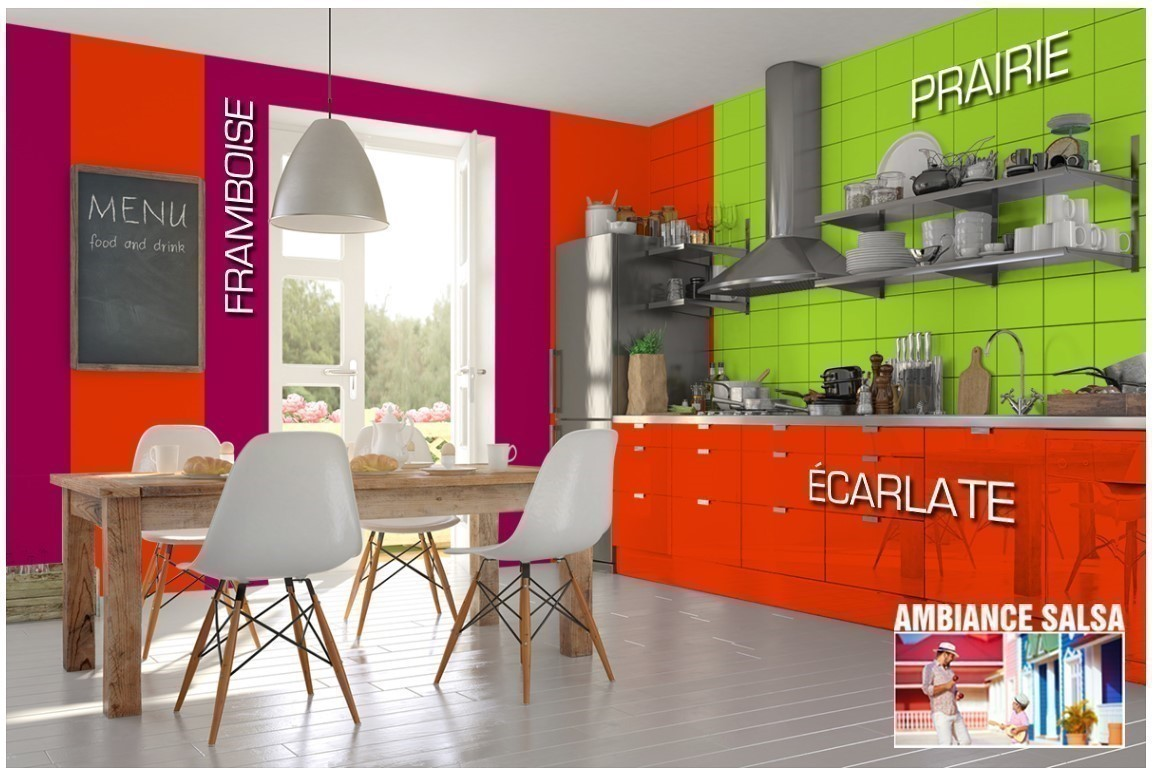 Exemple cuisine couleur Framboise