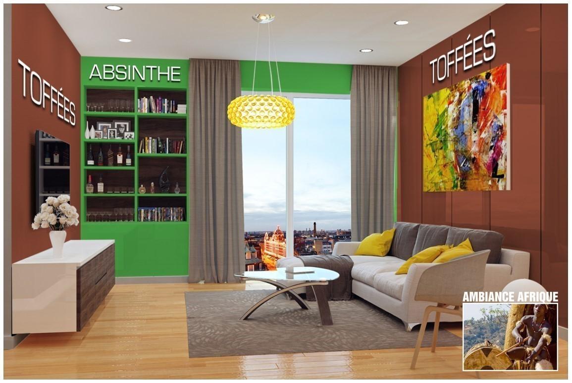 Exemple salon couleur Absinthe
