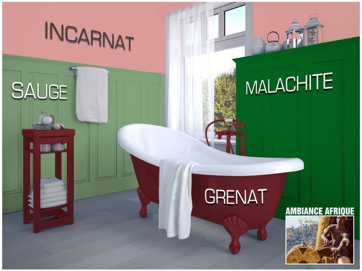 Exemple salle de bain couleur Sauge