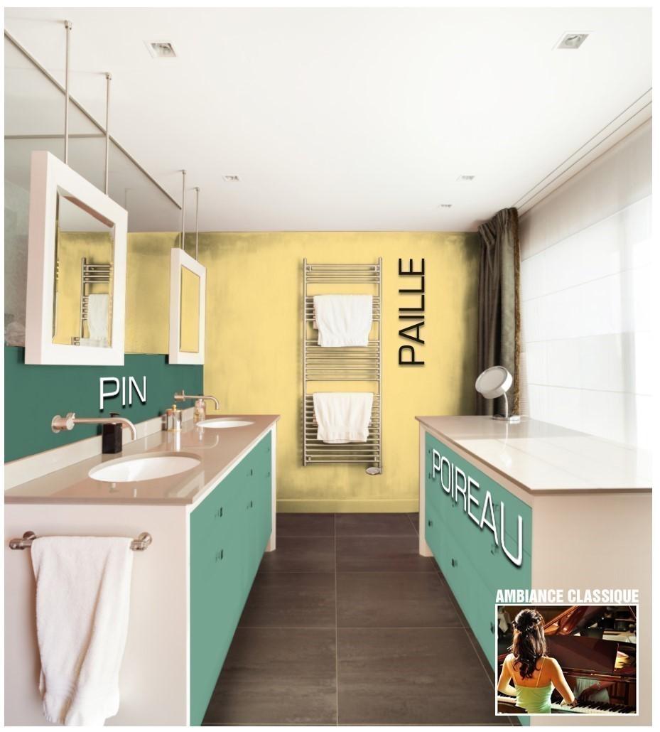 Exemple salle de bain couleur Poireau