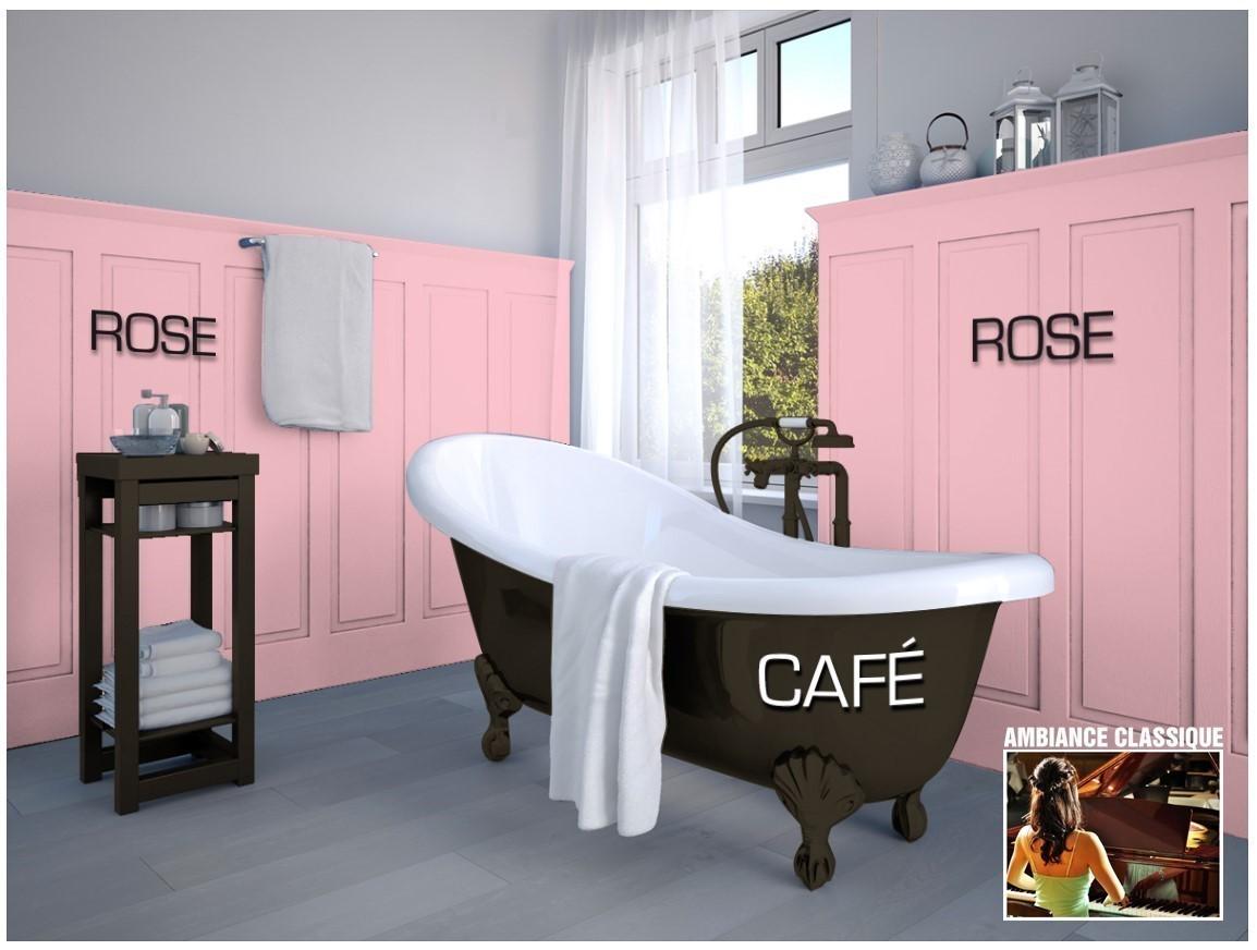 Exemple salle de bain couleur  Rose