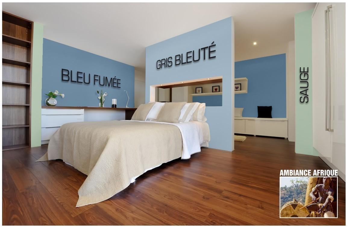 Exemple chambre couleur Gris bleuté