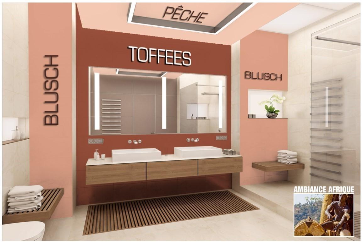 Exemple salle de bain couleur Blush