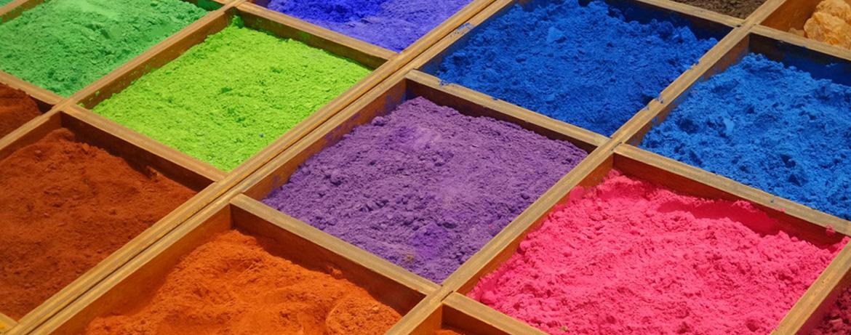 Pigments d'une peinture